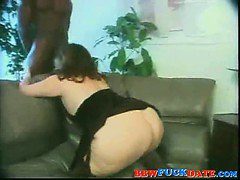 Black guy fuck BBW white woman hard