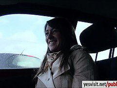 Very hot amateur girl Anastasia screwed up in the car