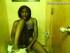 Skinny Black Girl Maturbating