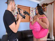 HugeTit Black BBW Cotton Candi Fucks Her Ex039s Friend