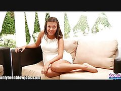 OnlyTeenBJ Young Teenager Maya Grand's FIRST BLOWJOB