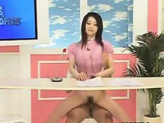 Japanese News Anchor Riding A Cock