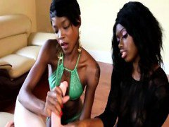 Two nubian ebony hood rats pov jerking