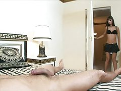 Sharp sex on the big bed