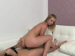Sexy blonde honey getting fucked hard by her agent