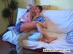 One hot and horny teen couple