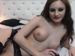 Beautiful girl masturbates pussy and anal same time on webc