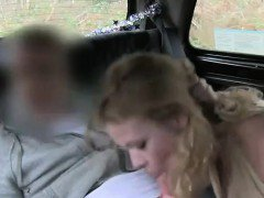Blonde amateur anal fucked in car in woods