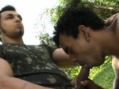 Military Muscled Gays Likes Outdoor Dick To Anal Sex