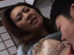 Japanese asian mama being fingered