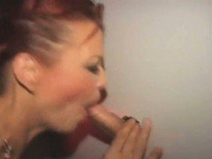 Mature Ex Vegas Show Girl Milking Dicks At Glory Hole