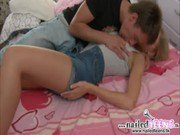 Sweet hot teen Lily loves getting her ass fucked by her hunk boyfriend