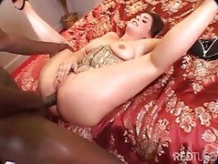 Isabel Gets A Black Cock In Pussy And Ass