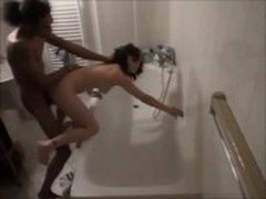 brunette wife caught cheating on hidden cam