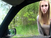 Damn pretty Euro girl Beatrix gets fucked hard in the car and receives cumshots