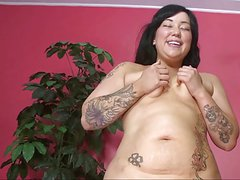 Thick Asian Milf MIYA at Work in HD