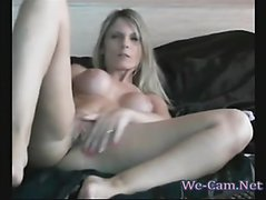 Horny wife gets off on her own