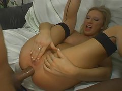 Cameron James Lets Two BBC's in her ass
