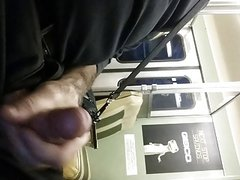 Jerking off on the train