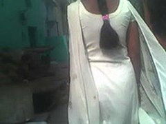 indian gaand in white salwar suit