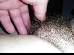 soft hairy pussy wife relaxing after her shower