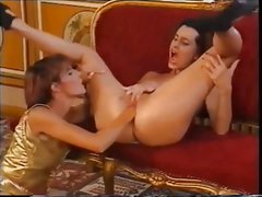 Girl anal fisted on table