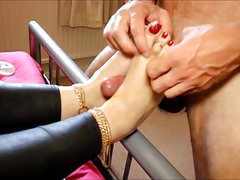 dominating Milf foot fuck