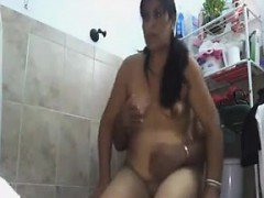 Indian Aunty Fucked In The Bathroom