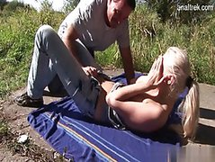Nude girl outdoor sex