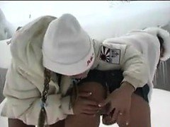 Teen Girls Being Naughty In The Snow