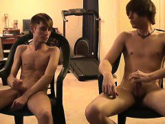 Twink movie Jared is nervous about his first time draining o