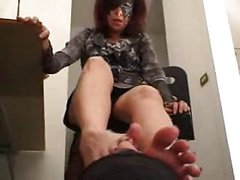 Mature Foot Smother