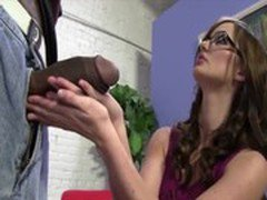 Cute Brunette fucks a Black Cock bigger than her Arm