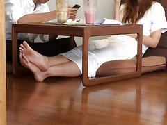 College Asian Candid Hot FEET LEGS TOES SOLES