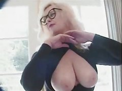 Sexy Big Boobs Mature satisfy 2 hard cocks