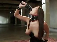 Extreme Dildo deepthroat and gagging