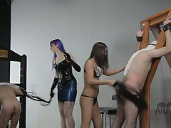 Mistress cuckolds her Arab husbands and calls Dominatrix