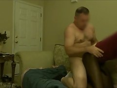 Hung White Pastor Pounds Hung Black Tranny