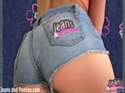 18yo beauty Carolina in skin tight blue jeans