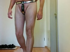 MySteel male chastity belt and panties under regular clothes