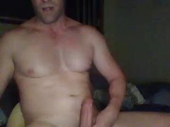 guy wanking while c2c and dirty talking with a female