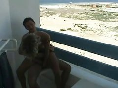 Young couple make a sex tape while on vacation.