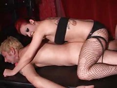Mistress fucks slave with strapon part 2