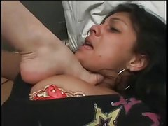Lesbian crushed by her feet