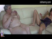BBW granny and young girl masturbating together