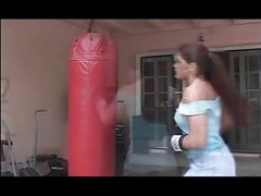 Boxe Training turns into hard Anal Fuck and Squirting