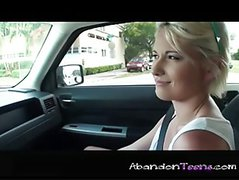 Blonde Cutie Fucks A Complete Stranger In His Car P2
