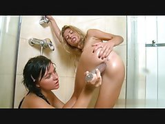 Hot pornstar lez play in shower