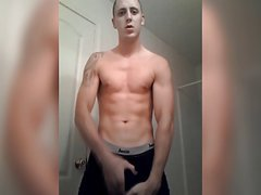 Hung White Scally Showing Off His Monster Cock (No Cum.)