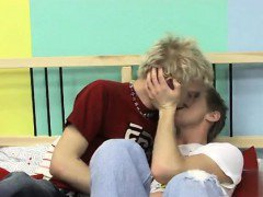 Twink movie of They kiss sensually and pleasure each other\'s